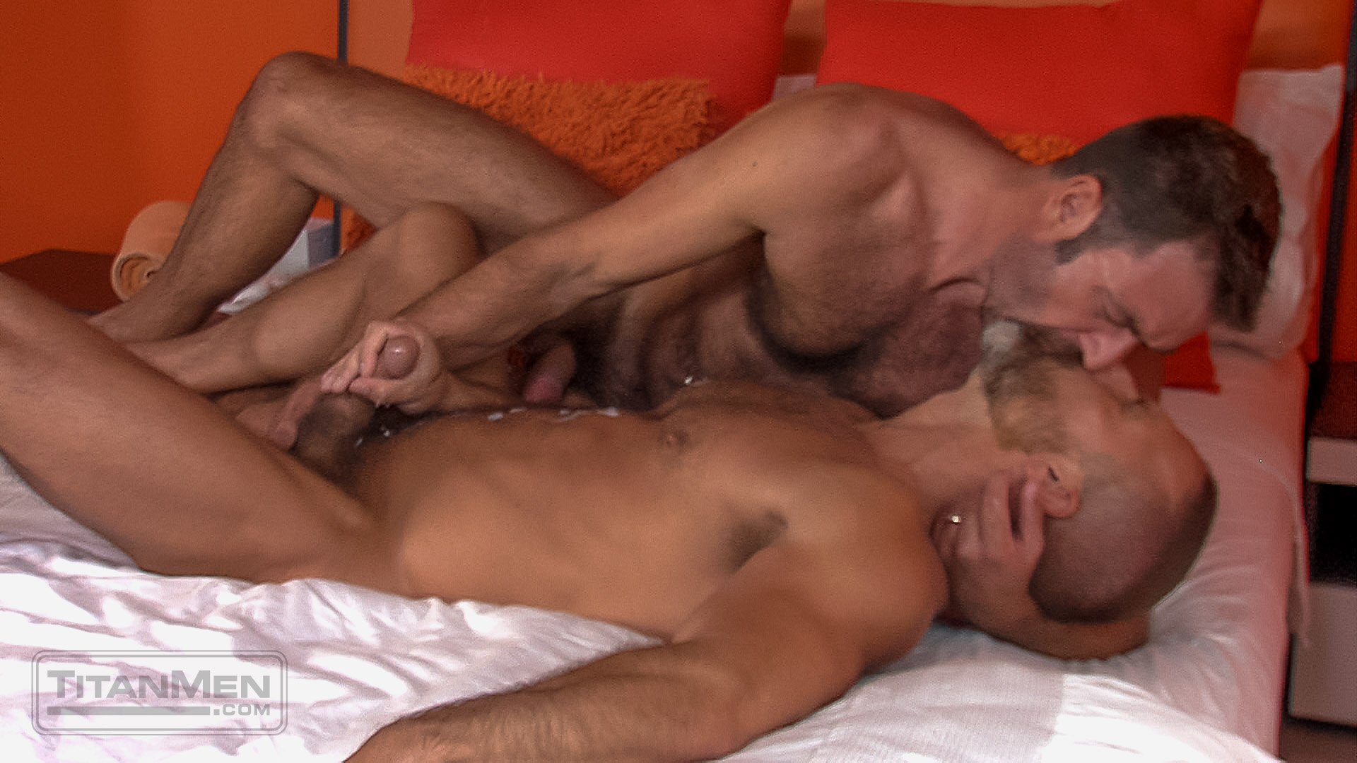 Throats my cock takes it deep in her ass i cum on her face